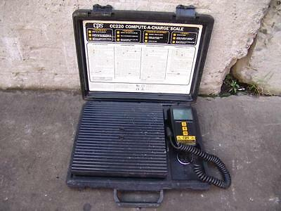 Cps Cc-220 Compute-A-Charge Hvac Coolant Scale W/case!