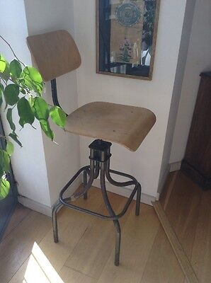 Industrial Vintage Mid-Century Office Swivel Machinist Office Chair