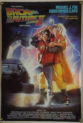 Back To The  Future Part Ii Ds Rolled Orig 1Sh Movie Poster Drew Struzan (1989)