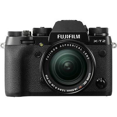 Fujifilm X-T2 Mirrorless Digital Camera with 18-55mm Lens