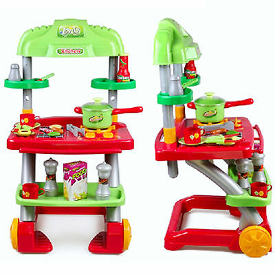 Dream Kitchen Cooking Table Role Pretend Playset Toy Electric Music Fun Toys
