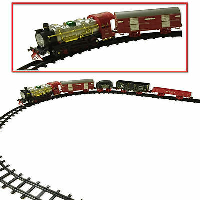 Classic Sound & Smoke Rail Carriages Kids Toy Train Track Game Playset Toys Xmas