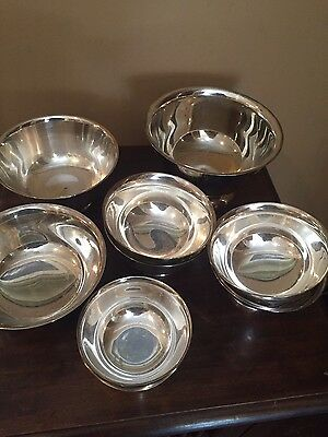 Lot of 10 Silver Plate Revere Reproduction Serving Bowls