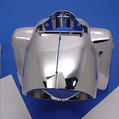 Chrome Headlight Nacelle Cowl Kit Harley 1986-13 Road King Flhr In Stock!!!