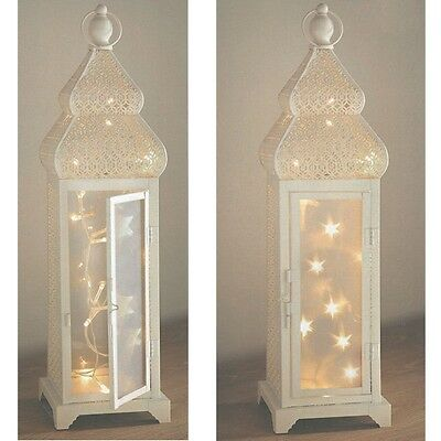 Shabby Chic Moroccan Style 20 LED String Lantern Lights 47cm tall