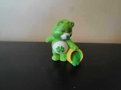 "Vintage 1984 Care Bears 2"" Pvc Figure Good Luck Bear Htf"