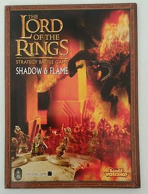 The Lord of the Rings  strategy battle game book shadow and flame