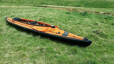 Wayland Amazon II 550XL Expedition 2 seater folding kayak - Deep Orange