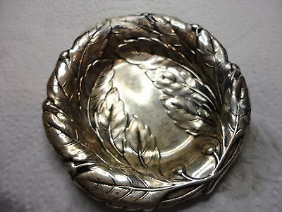Vintage Sterling Silver Ashtray OR COIN BOWL  36grams     7 1/2 CM around