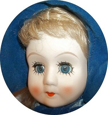 Beautiful Blue Eyes~ Head Arms Feet Are China /porcelain Nice Doll