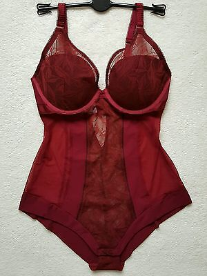 M&s Autograph Underwired Printed Mesh Body 36C - Red
