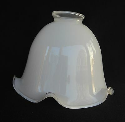 "White Glass Shade - 2 1/4"" Fitter - For Fan Lamp Sconce                (SH193)"