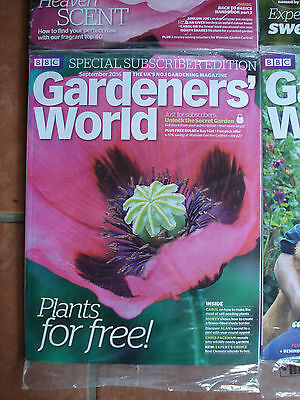 Brand New - Special Subscribers' Edition Gardener's World - September 2016