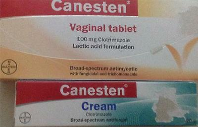 20 Grams Of CANESTEN Cream+6 Tablets Clotrimazole Yeast Fungal  Thrush Treatment