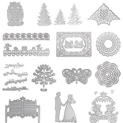 Metal Scrapbooking DIY Album Card Paper Diary Maker Die Cutting Stencils Crafts
