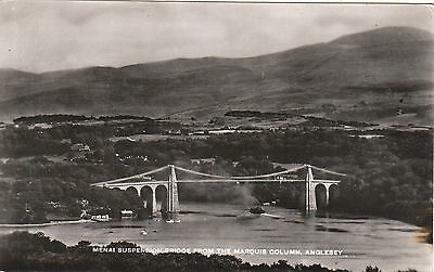 The Suspension Bridge From Marquis Column, LLANFAIRPG, Isle Of Anglesey RP