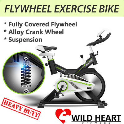Exercise Bike Spin Flywheel Home Fitness Gym Led Monitor Heavy Duty