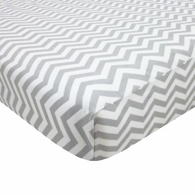 American Baby Company 100% Cotton Percale Fitted Portable/Mini Crib Sheet... New