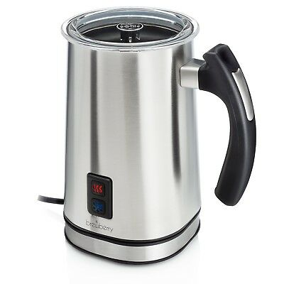 Brewberry Electric Milk Frother & Heater for Extra Foamy Cappuccino Latte & M...