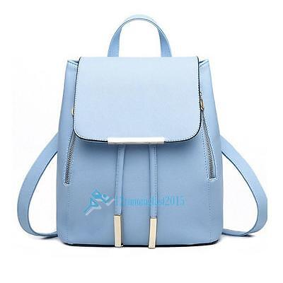Women Girl PU Leather Travel Bags Backpack School Shoulder Bag Rucksack Satchel