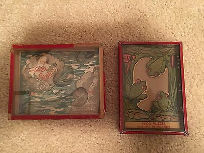 Vintage AERO and FROG Puzzles