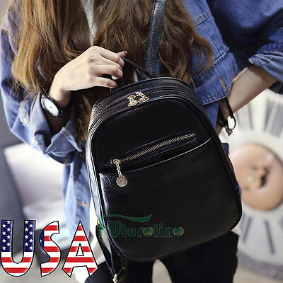 Women's Fashion Backpack Travel PU Leather Handbag Rucksack Shoulder School Bag
