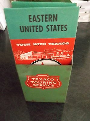 1950s Original Texaco Touring Service Map Holder w/ Maps  FREE HOLIDAY SHIPPING!
