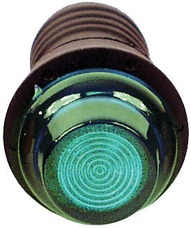LONGACRE Green 3/4 in Diameter 12V Warning Light P/N 41804