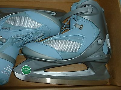 LL Bean NEW with Box Women's Size 10 Ice Skates Blue 3M Thinsulate Insulation!