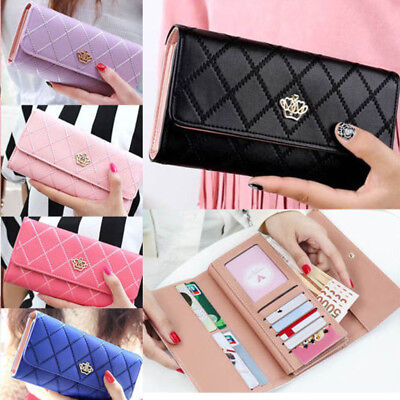Fashion Women Lady Long PU Leather Clutch Wallet  Card Holder Purse Handbag US