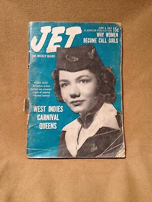 JET MAGAZINE June 4 1953 Women become call girls Peggy Dick Carnival Queen