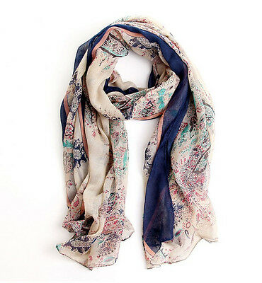 New winter Womens Lady Fields and Gardens Soft Long Shawl Scarf Wraps Stole Neck