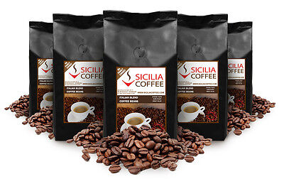 10kg Sicilia Coffee ITALIAN BLEND Coffee Beans,CAFES/OFFICES, Freshly Roasted