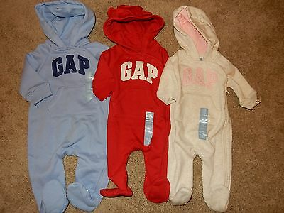 babyGap Infant Girls Fleece Pants Red or Blue Sizes 0-3M or 3-6M NWT