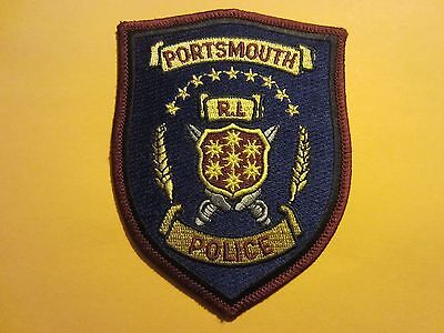 Collectible Portsmouth, Rhode Island Police Patch New