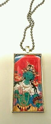 Green Tara necklace Hand made pendant In US New