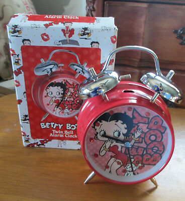 Betty Boop Battery Operated Retro Style Twin Bell Alarm Clock - New in Box