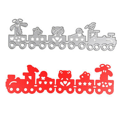 Cartoon Train Cutting Dies Stencils for DIY Scrapbooking Album Paper Card Crafts