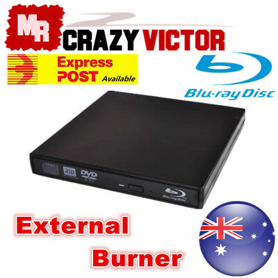 External USB Blu-Ray Disc Burner Writer Player Reader DVD CD RW Drive For Laptop