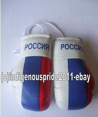 Russia Flag/Russian Flag mini boxing gloves for your car mirror-Get the best.