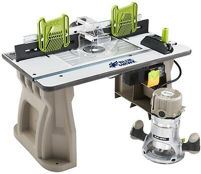Router Table Power Tool Shaper Adjustable Fence Woodwork 11 amp Motor 2HP Fixed