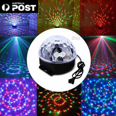 AU RGB Effect DJ Light LED Stage Lighting Laser Crystal Magic Ball Disco Party