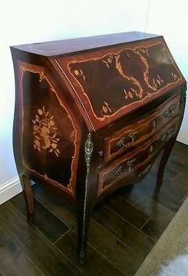 Antique Bureau with Brass Details