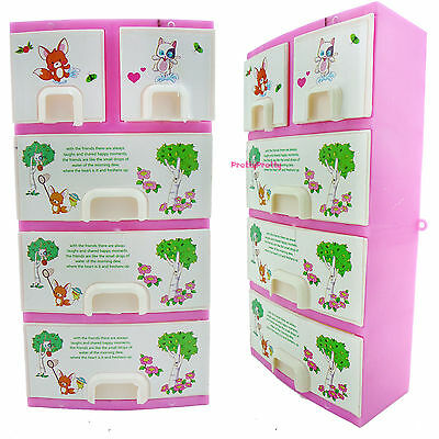 Accessories Pink Wardrobe Shoebox Lockers Bedroom Furniture For Barbie Dollhouse