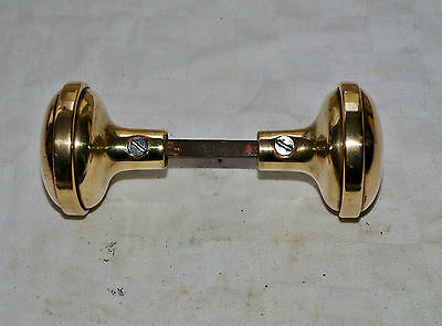 2 RECLAIMED ART DECO ?? BRASS or BRONZE PULL LEVER HANDLES KNOBS