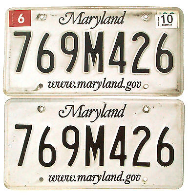 Maryland 2010 Pair License Plate Garage Old Car Auto Tag Man Cave Decor 7