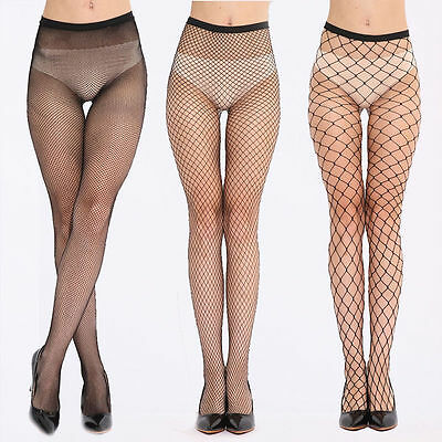 Nude Women Lady Fishnet Net Pattern Burlesque Hoise Pantyhose Tights Black SexyS