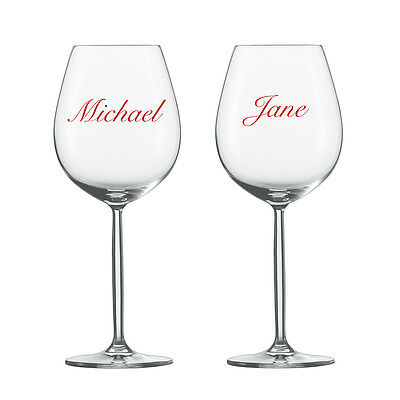 6 x PERSONALISED BRIDE AND GROOM WEDDING GLASS NAME STICKERS WINE GLASSES