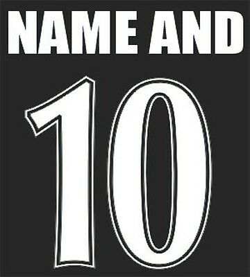 Vinyl Iron On Name & Number Choice Of 15 Colours