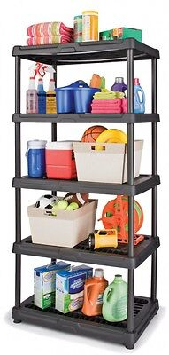 Shelving Unit Home Garage Indoor 5-Tier Freestanding Shelf Rack Plastic Storage